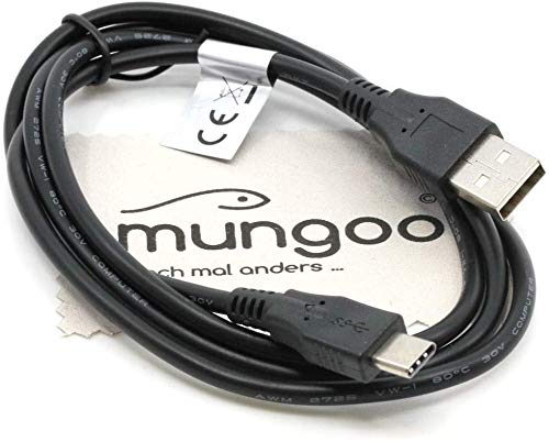 USB Datenkabel kompatibel für Sony Xperia X Compact, Xperia XA1 (Ultra/Plus), Xperia XA2 (Ultra/Plus),Xperia XZ (Dual/Premium), Xperia XZs Typ-C Ladekabel Daten Kabel OTB mit mungoo Displayputztuch