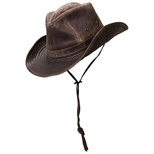 Dorfman Pacific Men's Band Binding Hat,Brown,Small