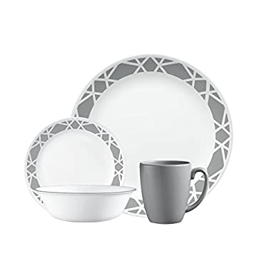 Corelle 1127691 Dinnerware Set, 16 pc Modena, White