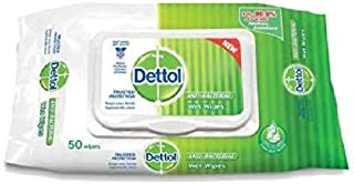 Dettol Wipes 50s- Soft, Textured Fabric Gently cleanses Your Skin Without Irritation