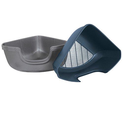 Petmate 42101 Sifting Corner Litter Pan