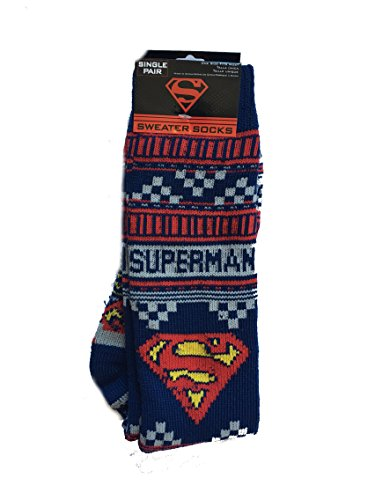 Superman warme Pullover Socken