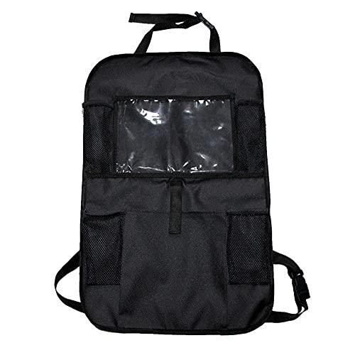UTOBY Protector de respaldo para asiento trasero de coche, organizador para niños, tejido Oxford, resistente al agua, con bolsillo para iPad/tableta, organizador para asiento de coche