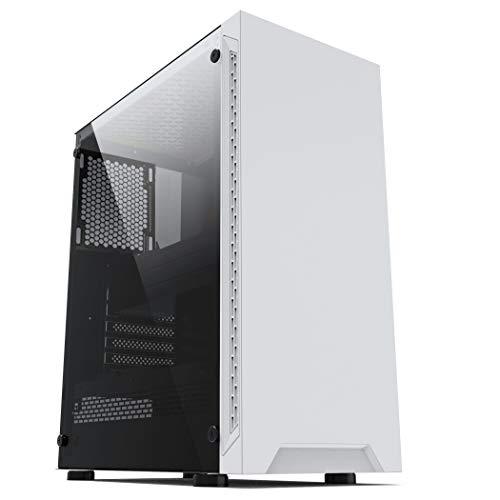 ionz KZ08 PC ARCTIC WHITE MID TOWER COMPUTER CASE M/ATX ATX...