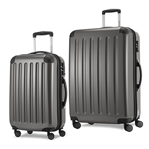 HAUPTSTADTKOFFER Luggages Sets Glossy Suitcase Sets Hardside Spinner Trolley Expandable TSA (20'28') Titan