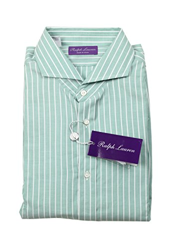 Ralph Lauren CL Purple Label Green Striped Shirt Size 43/17 U.S.