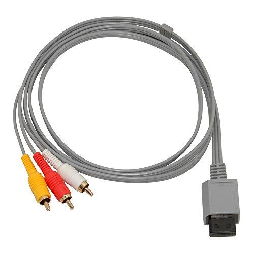 Mcbazel Cable AV de audio compuesto para consola Wii y Wii U