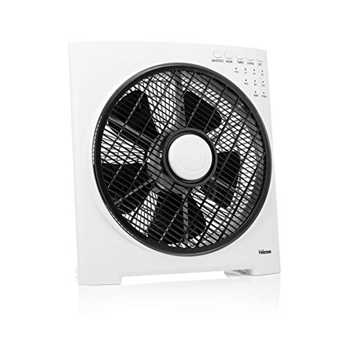 Tristar VE-5859 Ventilatore Box, 50 watt, timer, 3 impostazioni di velocità