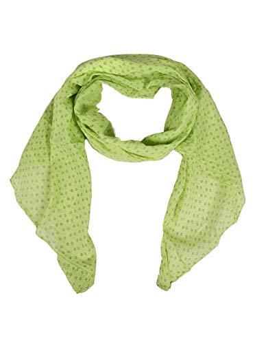 Zwillingsherz Seiden-Tuch Damen stylisches Muster - Made in Italy - Eleganter Sommer-schal für Frauen - Hochwertiges Seidentuch/Seidenschal - Halstuch und Chiffon-Stola Dezent - grün