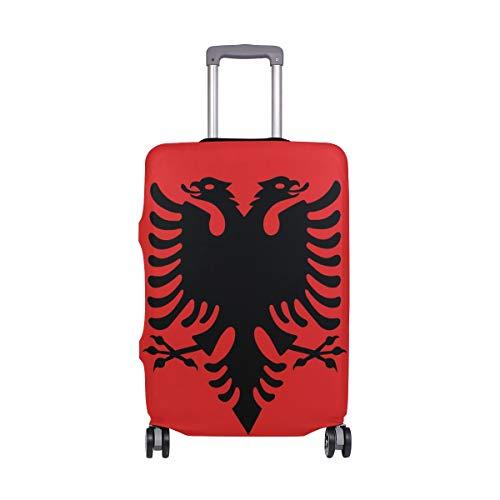 FANTAZIO Kofferschutzhülle Kofferhülle Kofferhülle Fahne Albanien NUR Cover