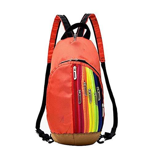 Yi-xir Diseño de moda exterior bolsa de montañismo bolsa de hombro para mujer bolsa de deporte exterior bolsa de arco iris mochila mochila infantil ligera y duradera (color: 01, tamaño: A)