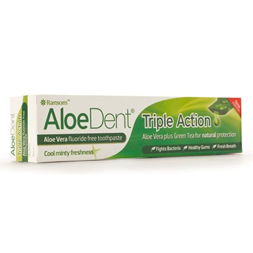 晩ごはん凶暴なノベルティAloeDent Triple Action Aloe Vera Fluoride Free Toothpaste 100ml