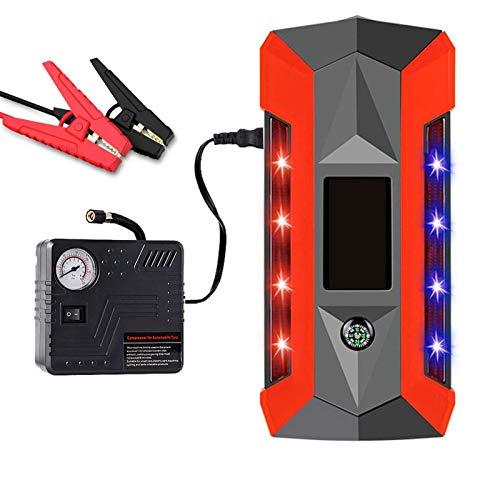 AZCSPFALB Multifunktions Auto Starthilfe, Starthilfegerät 600A 12V 89800mAh Tragbare Autobatterie für die Meisten Cartypes(4 USB + LED-Taschenlampe) Einfach zu Verwenden