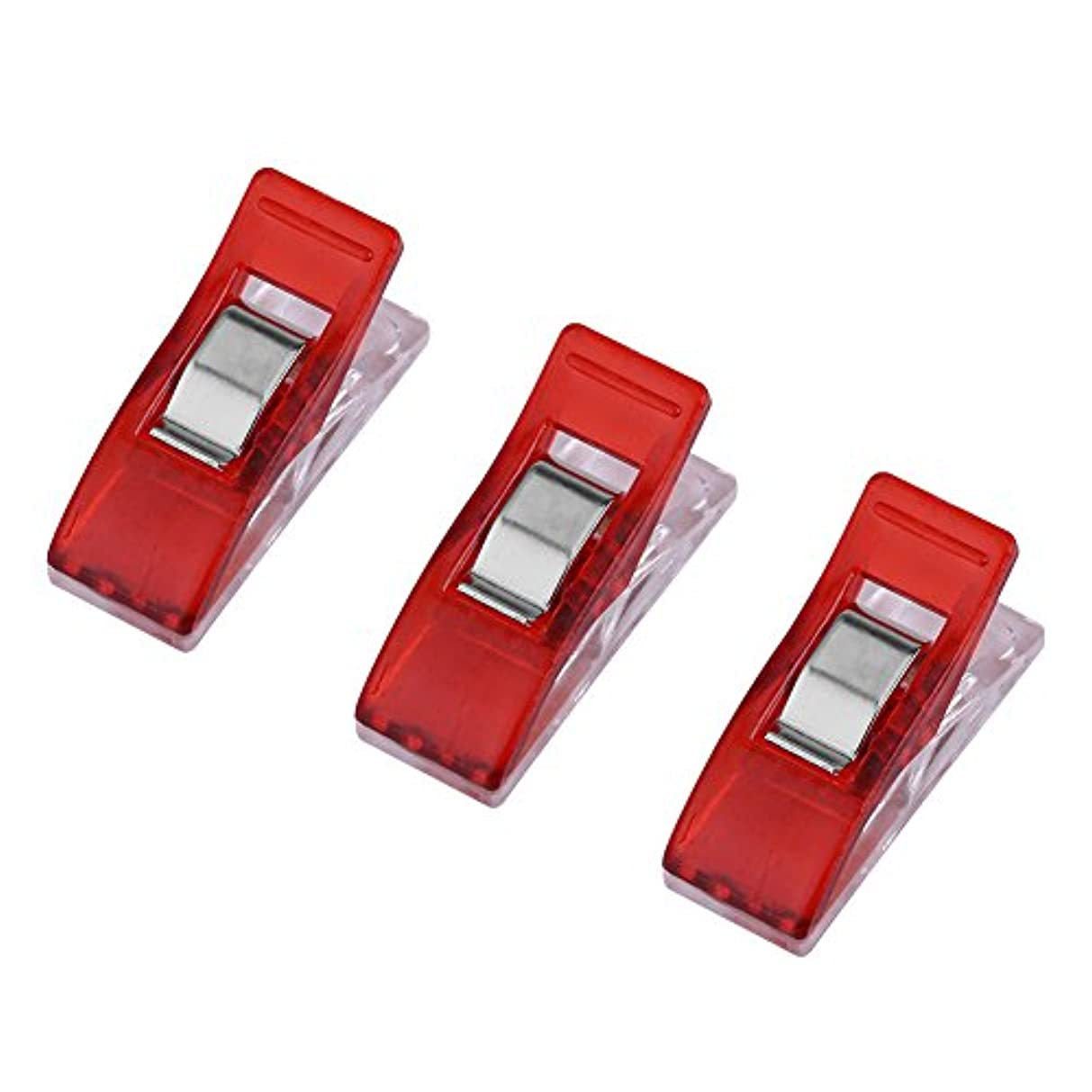 Mini Wonder Clips,Multipurpose Sewing Quilting Binding Clips for Office and Craft Projects.(Red)