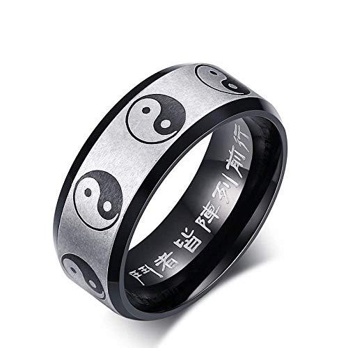 Anillos Creativo de Estilo Chino Tai Chi Gossip Ring Anillo de Aleación de Alta Calidad para Hombres Mujeres Anillos Decorativos, XIYUN, 12
