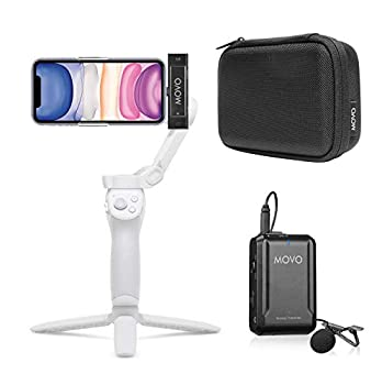 Movo Edge-DI Wireless Lavalier for iPhone - Perfect Compact Lav Mic for Smartphone Gimbal Stabilizer - Great for Vlogging Filming Teachers and More - Compatible with DJI Osmo OM 4
