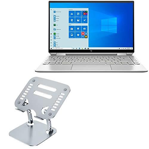 Suporte e suporte para HP Spectre X360 13 (2019 5ª geração), BoxWave [Suporte Executivo VersaView para laptop] Suporte ergonômico ajustável metálico para laptop HP Spectre X360 13 (2019 5ª geração) - Prata metálica