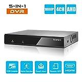 Q-camera 4CH 5M-N/1080P Full HD Ibrido AHD/TVI/CVI/Analog/Onvif IP DVR H.265 Videoregistratore Cctv P2P Remoto Per Telecamera Di Sicurezza Domestica Sistema Di Sorveglianza (NO HDD)