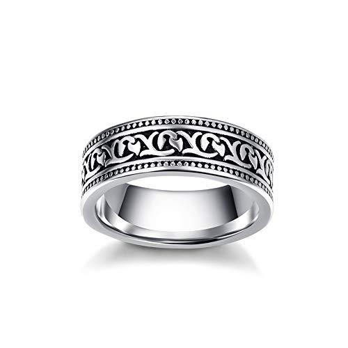 Cloyo Herren Edelstahl Ring Härte Antioxidans Helle keltische Knotenringe Größe 65(20.7)