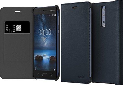 Preisvergleich Produktbild Nokia 1A21PR700VA Leder Flip Schutzhülle CP-801 für 8 Blau