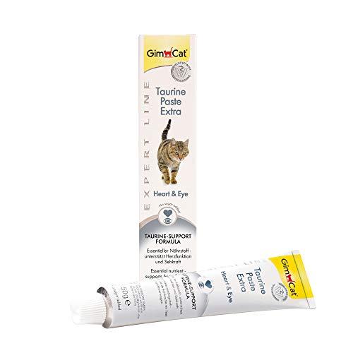GimCat EXPERT LINE Taurine Paste Extra - Funktionaler Katzensnack fördert Herzfunktion und Sehkraft - 1 Tube (1 x 50 g)