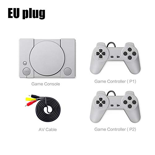 Letway Retro Game Console 2 Sensitive Joysticks, Eingebaute 620 Classic-Videospielkonsole, 8-Bit-Playstation für PS1-Mini-Retro-Doppel-Gamepad-Kampfspielkonsolen, Adult Children Birthday Applied