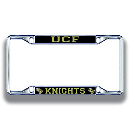 UCF Knights License Plate Frame Silver