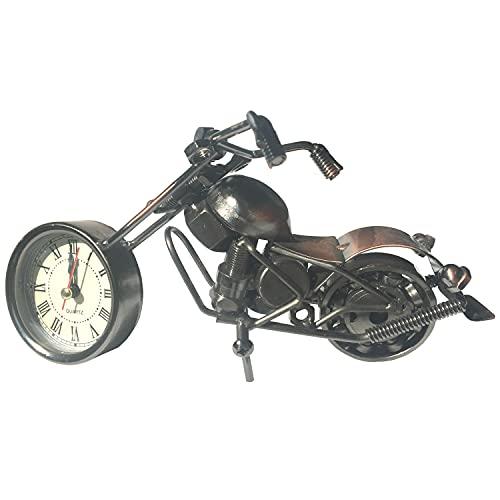 Der Eisenhans M15-A1 - Figura de moto chopper con reloj de coleccionista hecho a mano de hierro (20,0 cm x 9,0 cm x 11,0 cm)