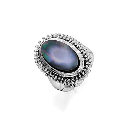 Ouran - Anillo vintage para mujer, talla ajustable, chapado en plata con cristal brillante, alianzas de boda, compromiso, regalo para amigos
