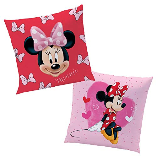 Girly Mouse | Kinder Kissen 40 x 40 cm | Disney Minnie Maus | Dekokissen