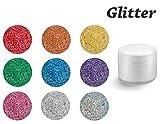 EuBeCos Colaxy PREMIUM Farbgele 5ml - GLITTER - GL95 Purple Glitter MADE IN GERMANY! mit BESTER DECKKRAFT
