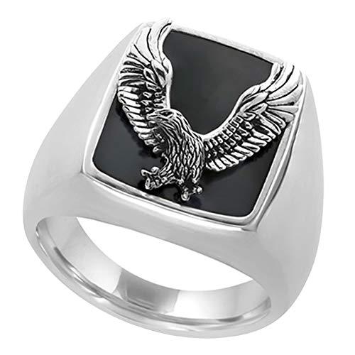 Janly Clearance Sale Anillos para mujer, anillo de moda para hombre, anillo dominante para fiesta, anillo de cobre, tamaño 7-13, conjuntos de joyas, día de San Valentín (12)