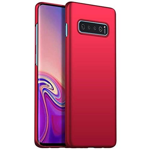 Capa Capinha Protetora Para Galaxy S10 Normal Tela De 6.1 Polegadas Case Acrílica Fosca Ultra Fina, Luxuosa Premium Super Diferente - Danet (Vermelha)