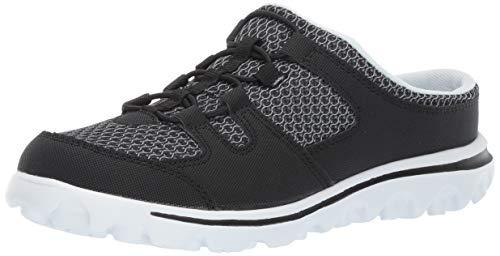 Propet Women's TravelActiv Slide Loafer Flat, Black, 9 XX-Wide