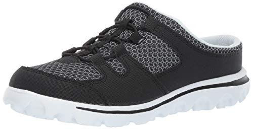 Propet Women's TravelActiv Slide Sneaker, Black, 9.5 D US