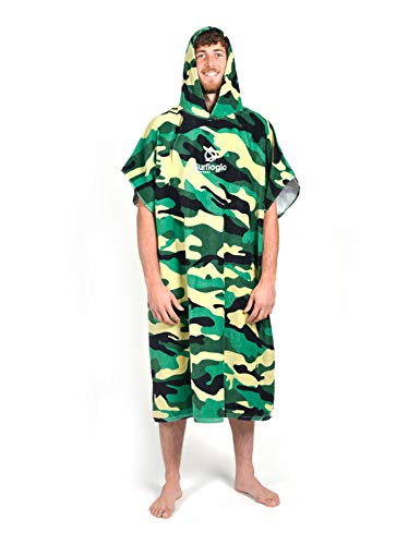 SurfLogic Poncho, Unisex Adulto, Camuflaje, One sizeca