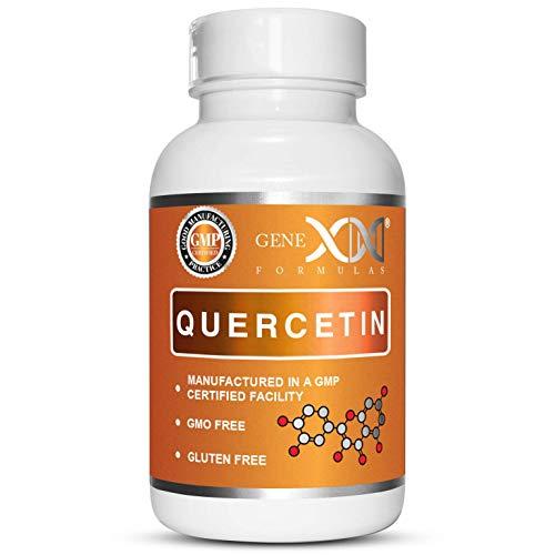 Genex Quercetin 500mg 60 Capsules - Immune, Cardiovascular and Longevity Support Supplement.