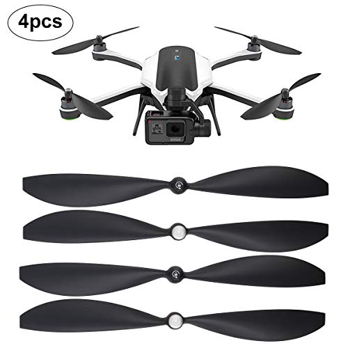 Hobby-Ace 4Pcs Drone Propellers Leaf for GoPro Karma Low-Noise Quick-Release Self-Tightening Grey