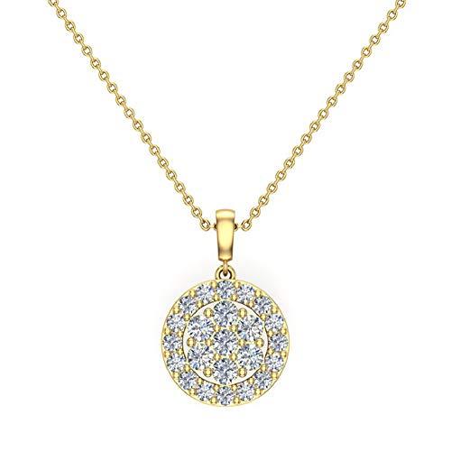 Glitz Design Mujer Hombre Unisex Niños oro 14 quilates (585) oro amarillo 14 quilates (585) Round Brilliant GH Diamond