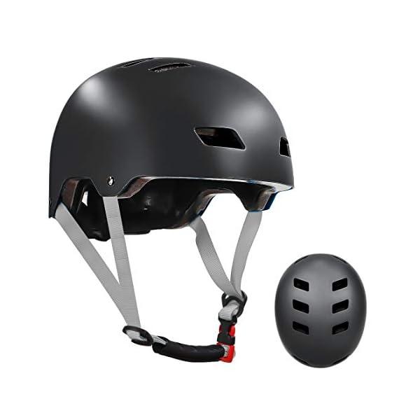 LANOVAGEAR Skateboard Helmet ASTM & CPSC Certified – 12 Vents Ventilation...