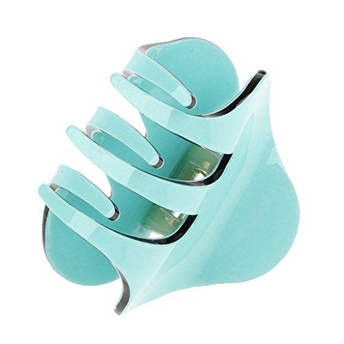 Fenteer Einfarbig Haargreifer Haarkralle Haarspange Haarklammer Haar Accessoire Badewanne Schmuck - Grün