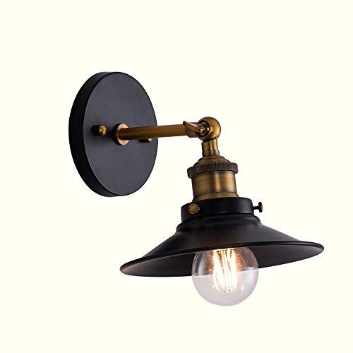 Lampes murales d'éclairage réglable, fer industriel européen LED décoration de la maison suspension lampe murale lumière moderne minimaliste salon bar allée murale bougeoir (Design : A)