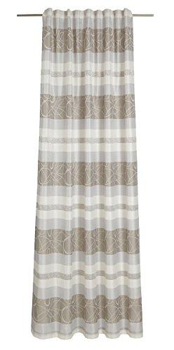 Deko Trends Kimono 623675179con Passanti, Tessuto, 245,0x 146,0x 245,0cm, Colore: Bianco/Grigio/Tortora
