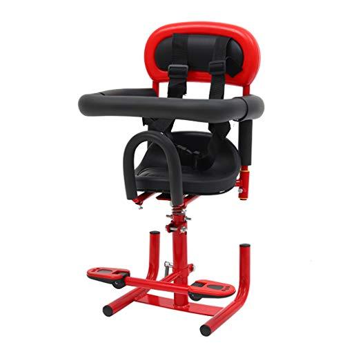 Bdclr Elektro-Motorroller Kindersitz Batterie Auto Elektro Moped Baby-Sicherheitssitz vorne Baby Kindersitz,Rot