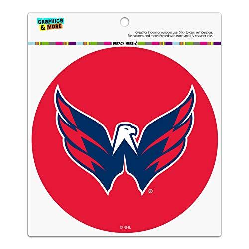 Graphics and More NHL Washington Capitals Logo Automotive Car Refrigerator Locker Vinyl Circle Magnet