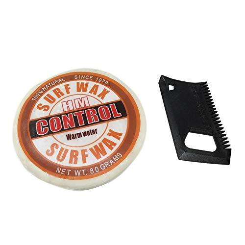 Dreameryoly Surf Wax, Cera Antideslizante de Tablas de Surf de California con Base de Peine/Tropical/Cálido/Frío/Frío/Agua
