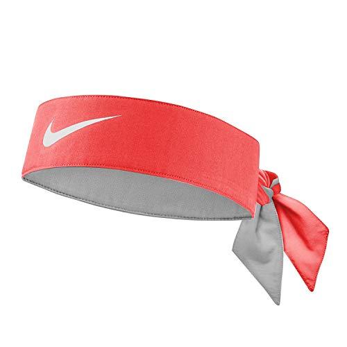 Nike, fascia per capelli unisex, per adulti, Dry-Fit, colore rosso, taglia unica
