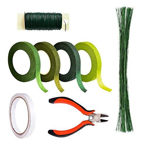 Ysislybin Kit Strumento Floreale, 8 PCS Kit di Strumenti per La Composizione Floreale, Pinza per Fioristi la Decorazione del Giardino di Nozze Artigianato Fai da Te