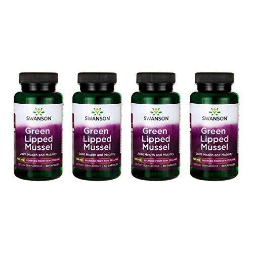 Swanson Green Lipped Mussel 500 mg 60 Caps 4 Pack