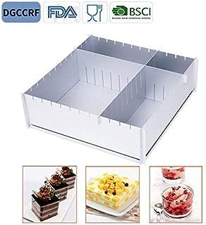 HAIT Cake Baking Aluminum Baking Tray Multifunction Adjustable Square Family Baking Mold (A)